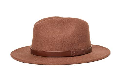 BRIXTON Messer Fedora Headwear, Rot, S