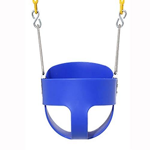 JTSYUXN Balancín para Bebé, Asiento De Plástico EVA De Alto Rendimiento con Respaldo Alto Y Cadenas De Columpio Completamente Montadas, Asiento De Bebé Ajustable Y con Crecimiento (Color : Blue)
