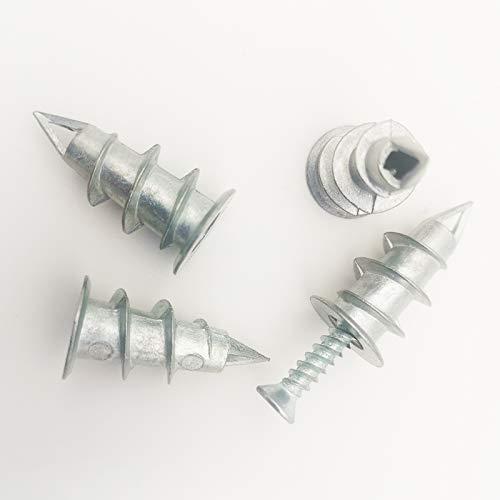 Plaster Boarding Fixings & Plugs, Heavy Duty Drywall Anchors, Metal Self Drilling Plasterboard Screws Raw Plugs Cavity Wall, Driva Plasterboard Wall Plugs(20pk)