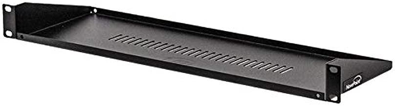 NavePoint Rack Mount Keyboard Shelf Shelves 19 Inch 1U Black 6 Inches (150mm) deep - Black