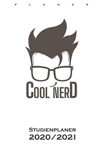 Cooler Nerd mit Brille und schöner Frisur Studienplaner 2020/21: Semesterplaner (Studentenkalender) für alle Nerds, Chippies und Computerfreaks
