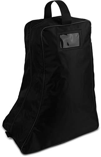 Storfisk fishing & more Stiefeltasche Aufbewahrungstasche für Gummistiefel und Schuhe mit verstärktem Boden und Klarsichtfenster, Farbe :Schwarz