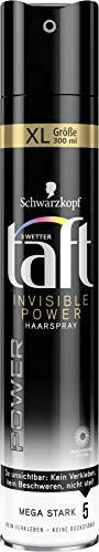 Drei Wetter Taft Haarspray Power Invisible mega starker Halt 5, 6er Pack(6 x 300 ml)