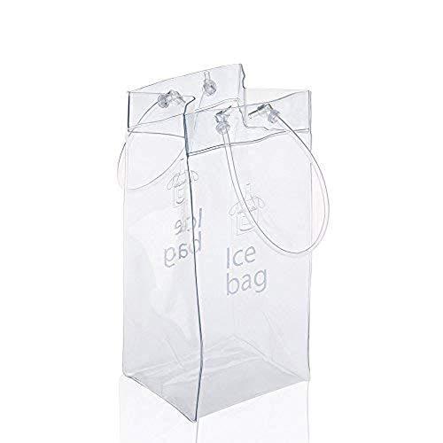 sohapy 2Pack tragbar klappbar transparent ICE Wein Tasche Kühltasche mit Griff für Party, Outdoor