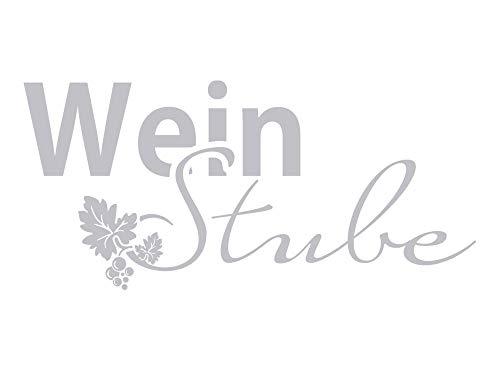 GRAZDesign Fenstertattoo Wein Stube mit Trauben, Fensteraufkleber für die Küche, Glastattoo Küchen-Fenster Glastür / 65x30cm
