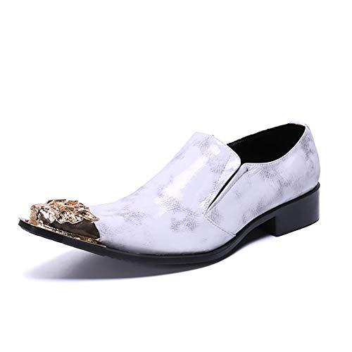 Heren lederen loafer Comfy lichtgewicht puntige teen Flats Moccasins anti-slip zakelijke werkschoenen groot formaat