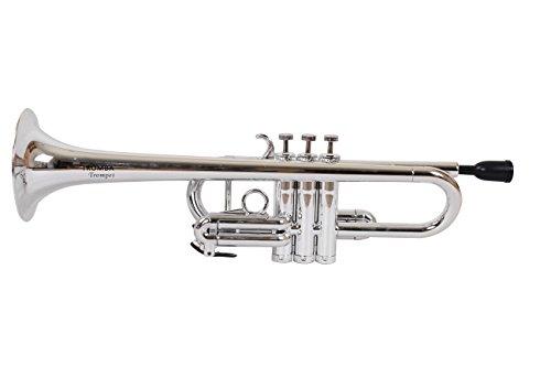 Tromba Pro Professionelle Kunststoff C Trompete, silber