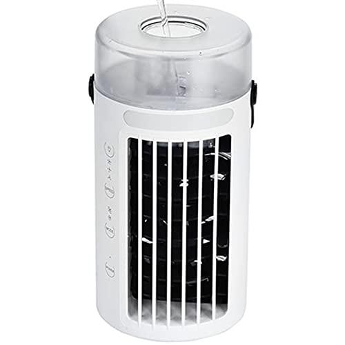 Kaijia Ventilador de refrigeración de aire portátil USB Mini ventilador de refrigeración de escritorio con 7 colores LED luz 3 velocidad circulación de aire para el hogar