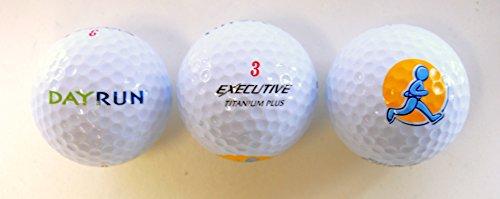 Spalding EXECUTIVE 3 Titanium Plus Golfbälle - 3 Stück