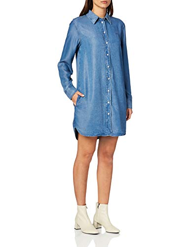 Calvin Klein Jeans dames casual jurk INDIGO TENCEL SHIRT DRESS
