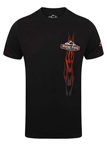 Orange County Choppers OCC T-Shirt Vertical Flame Black-S