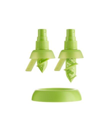 Lékué 3400115SURU500 - Juego de 2 pulverizadores de cítricos, Color Verde