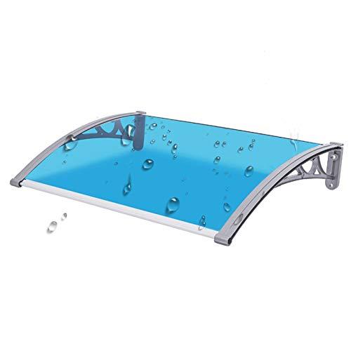 Tejadillo De Protección Marquesina, Refugio del Porche Refugio En La Azotea Panel De Policarbonato Azul Y Verde Cubierta del Techo del Patio Toldo En Arco Fácil De Limpiar
