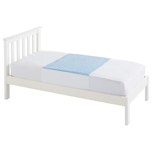 Kylie Bettschutzauflage | Blau | 3 Liter | Einzelbett 91 x 91 cm | Waschbare saugfähige Inkontinenzunterlage | Wasserdichte Unterlage | Mit Flügel 50cm | Premium-Qualität und Komfort