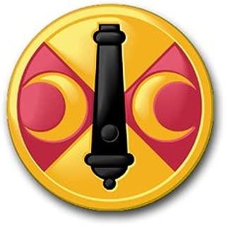 Military Vet Shop US Army 210th Field Artillery Brigade Patch Vinyl Transfer Window Bumper Sticker Decal 3.8