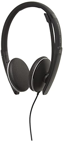 Sennheiser SC 165 USB (508317) - doppelseitiges (binaural) Headset für Geschäftsleute | mit HD-Stereo-Sound, Mikrofon mit Geräuschunterdrückung und USB-Anschluss (schwarz)