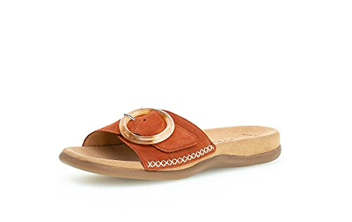 Gabor Damen Sandalen, Frauen Pantoletten,Best Fitting,Slipper,Slides,Slip-ons,Backless,Mules,Gartenschuhe,Sommerschuhe,Clogs,Terra,40 EU / 6.5 UK