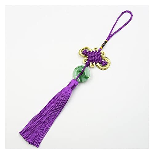 5 piezas de nudo chino jade borla de bricolaje ropa de joyería de bricolaje Accesorios de decoración de claves Case colgante DIY Artesanía Tassel Tassel Decoración Regalo ( Color : Red purple )