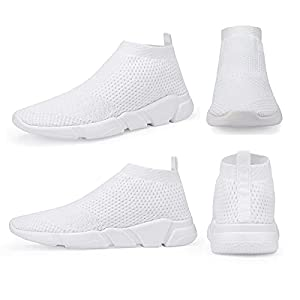 WXQ Men's Fashion Sneakers - Lightweight Breathable Walking Shoes Running Shoes Mesh Workout Casual Sports Shoes