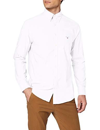 GANT Herren The Broadcloth Reg Bd Freizeithemd, Weiß (White 110), XXX-Large (Herstellergröße: XXXL)