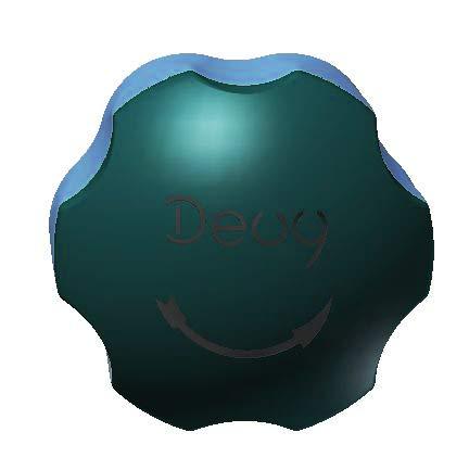 DEUY, Bio professionelle Flaschenöffner für Gewerbe und Haushalt, Küchenhelfer für Senioren, Farbe Jadegreen-Meerblau, Schraubverschluss CO2- Flasche
