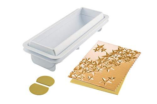 silikomart 25.075.63.0065 Kit para tronquitos Starlight buche by, madera, blanco