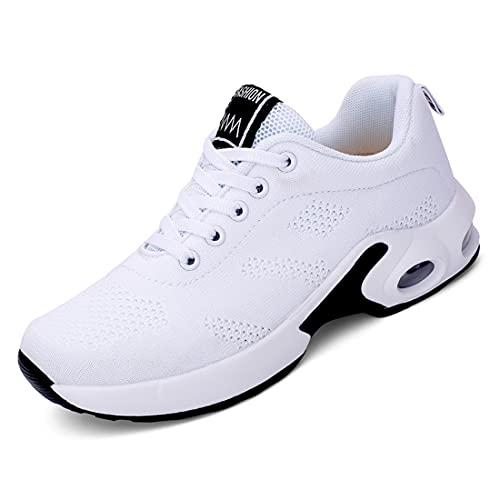 [Regibelie] 厚底スニーカー レディース スニーカー 厚底 軽量 カジュアル 通気 シューズ オシャレ ランニング 旅行 ジョギングシューズ クッション性 運動靴 白い ホワイト 25.0cm