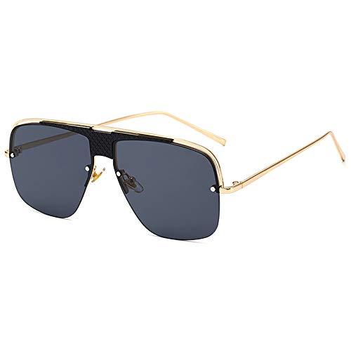 SHEEN KELLY Luxus V400 Retro-Sonnenbrille für Herren Square Ladies Mirrored Pilot Gradual Glasses Black