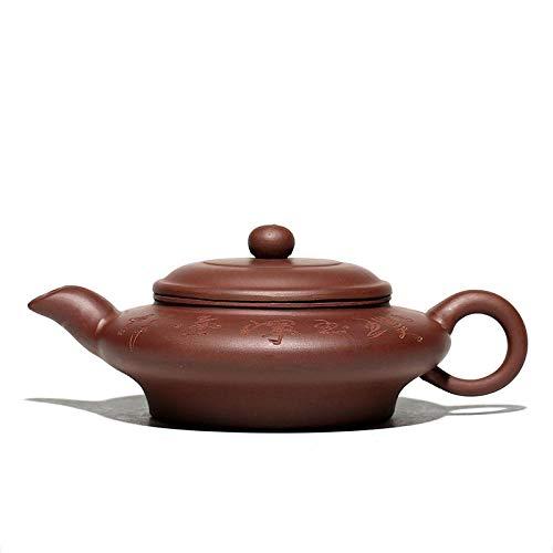 Tetera De Arcilla Morada Flat Ancient Flat Ancient Purple Clay Teapot Teapot Large Water Virtual Flat Pot Tea Set
