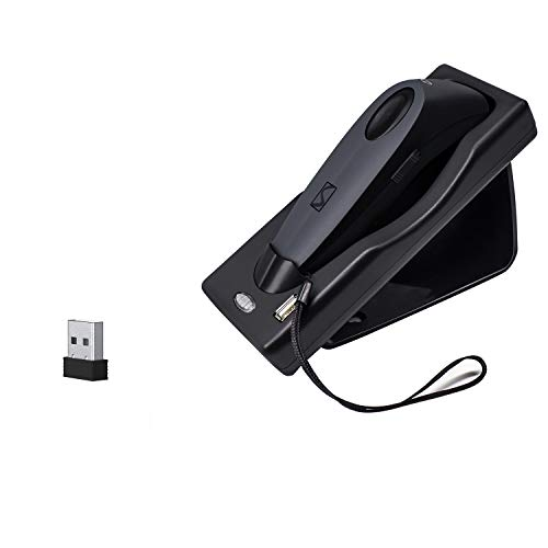 Alacrity Barcode Scanner 2-in1 Wireles 1D 2D Barcode Scanner QR PDF417 Data Matrix UPC Rechargeable Bar Code Scanner for Laptops/PC/Android/Apple iOS