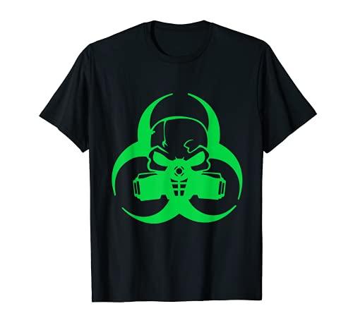 Cyber Goth clothing Biohazard Gas Mask Camiseta Camiseta