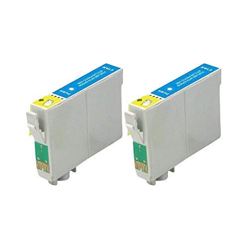 RudyTwos - Juego de 2 unidades de tinta para Epson Seahorse LightCyan compatible con Stylus Photo R200, R220, R300, R300M, R320, R325, R330, R340, R350, RX300, RX320, RX500, RX600, RX644 0