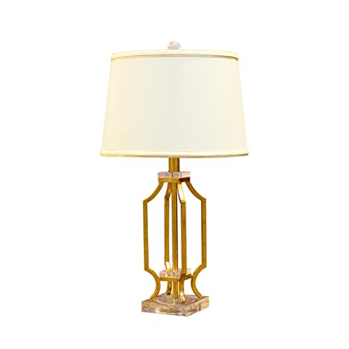 -lampara mesa Luz de escritorio retro Luz de mesa creativa Dormitorio de cristal Dormitorio lámpara de cabecera Luces decorativas Lámpara de mesa decorativa ( Color : Gold , Size : Dimmer Switch )