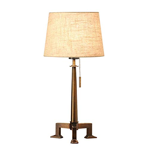 Tischlampe Haushalt Nachttischlampe, Moderne Minimalistische Warme Schlafzimmer Nachttischlampe Wohnzimmer Studie Büro Beleuchtung Lesen Zugschalter XYJGWSTD