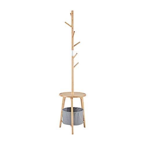 Perchero de pie independiente Rack de madera sólida de trabajo pesado y cesta de almacenamiento para la colgadora de ropa de la entera sala de entrada adecuado para cualquier habitación Perchero organ