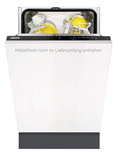 Zanussi ZDV12003FA Vollintegrierter-Geschirrspüler / A / 45cm / AirDry - perfekte Trocknungsergebnisse / energiesparend / Besteckkorb / Beladungserkennung / Intensivprogramm / Wasserstopp