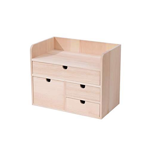 JJZXD Madera ajustable Pantalla de bambú del organizador del almacenaje de escritorio del estante del estante estante de usos múltiples