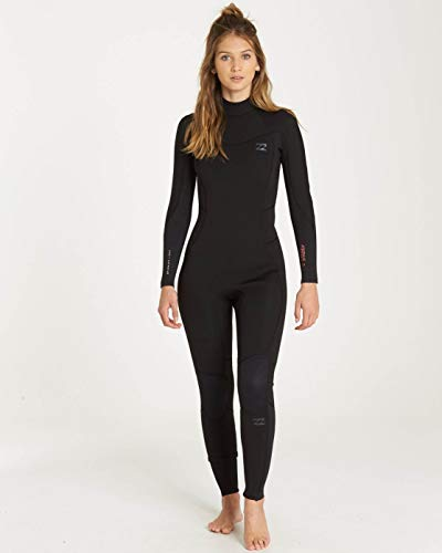 Billabong Wensuit Furnace Synergy 4/3 mm rugrits Wetsuit zwart - Easy Stretch Thermal ovenvoering Dry