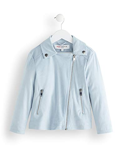 Amazon-Marke: RED WAGON Mädchen Mantel Suedette Biker Jacket, Blau (Blue), 116, Label:6 Years
