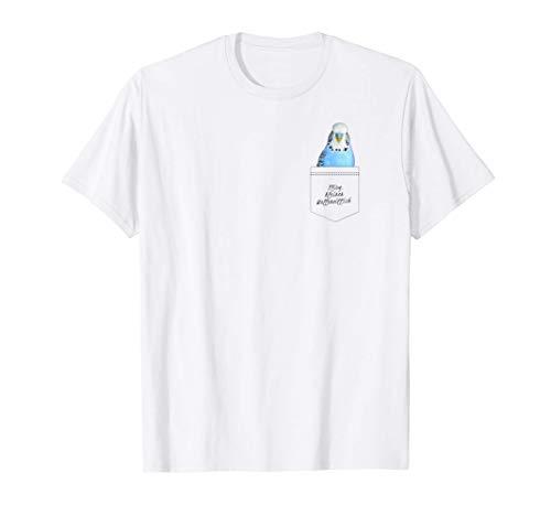 Flieg kleiner Wellensittich Design lustiger Spruch Tasche T-Shirt