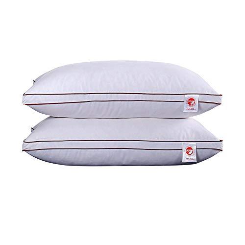 CGQAbajo de la almohada de plumas de ganso blanco abajo de la almohada del hotel estudiante adulto...