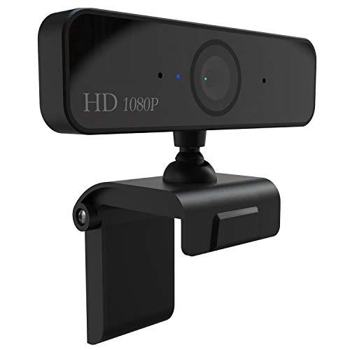 1080P HD USB Webcam Ingebouwde microfoon, Clip-On Video conferentie live uitzending Web Cam Geschikt voor PC computer laptops MAC/Android TV. Zwart