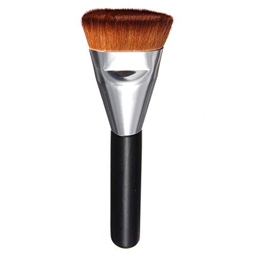 Vococal® Contour Plat Professionnel Maquillage Pinceau Visage Gros Mélange Maquillage Pinceau Argent