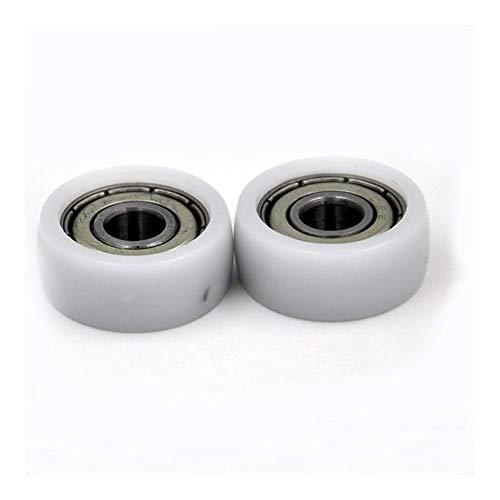 LUANAYUN-PHONE CASE Rodamiento de bolas flexible y duradero 606 ZZ cubierto con plástico POM 6 x 20 x 8,5 mm de plástico polea rodamientos 606 Z 2Z (2 piezas)