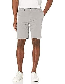 Amazon Brand - Goodthreads Men s Slim-Fit 9  Inseam Flat-Front Comfort Stretch Chino Shorts Light Grey 36