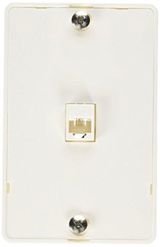 AmerTac - Zenith TW1001WPW TW1001WPW Universal Wall Phone Jack, White Landline Telephone Accessory