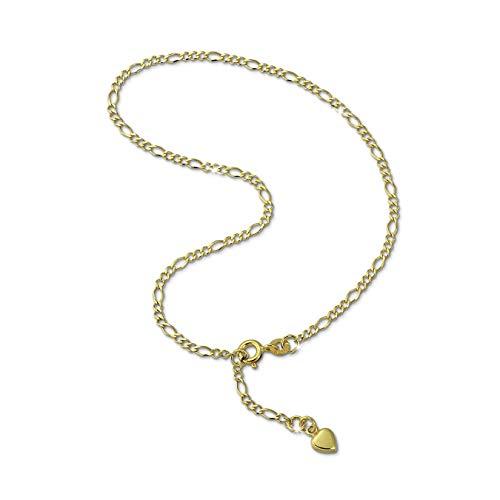 GoldDream 333er Gelbgold Fußkette Herz Damen-Schmuck 25cm gold D2GDF0045Y ein schönes Geschenk zu Weihnachten, Geburtstag, Valentinstag für die Frau