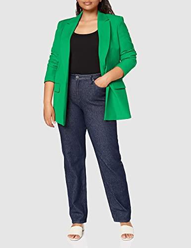 Marca Amazon - find. Chaqueta de Traje Entallada Mujer, Verde (Green), 42, Label: L