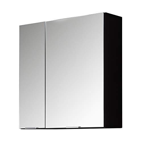 trendteam smart living Badezimmer Spiegelschrank Spiegel Concept One, 60 x 63 x 20 cm Front Spiegelglas, Korpus Graphit Grau Melamin mit viel Stauraum