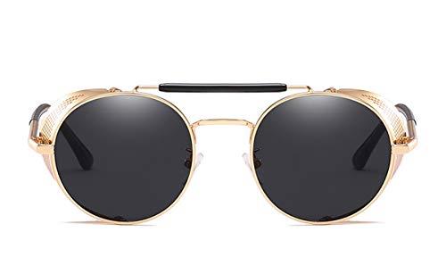 Hengtaichang Sunglasses Steampunk Sunglasses Men Women NEW Brand Designer Sun Glasses For Ladies Punk Goggles Vintage Female Male Oculos NO2
